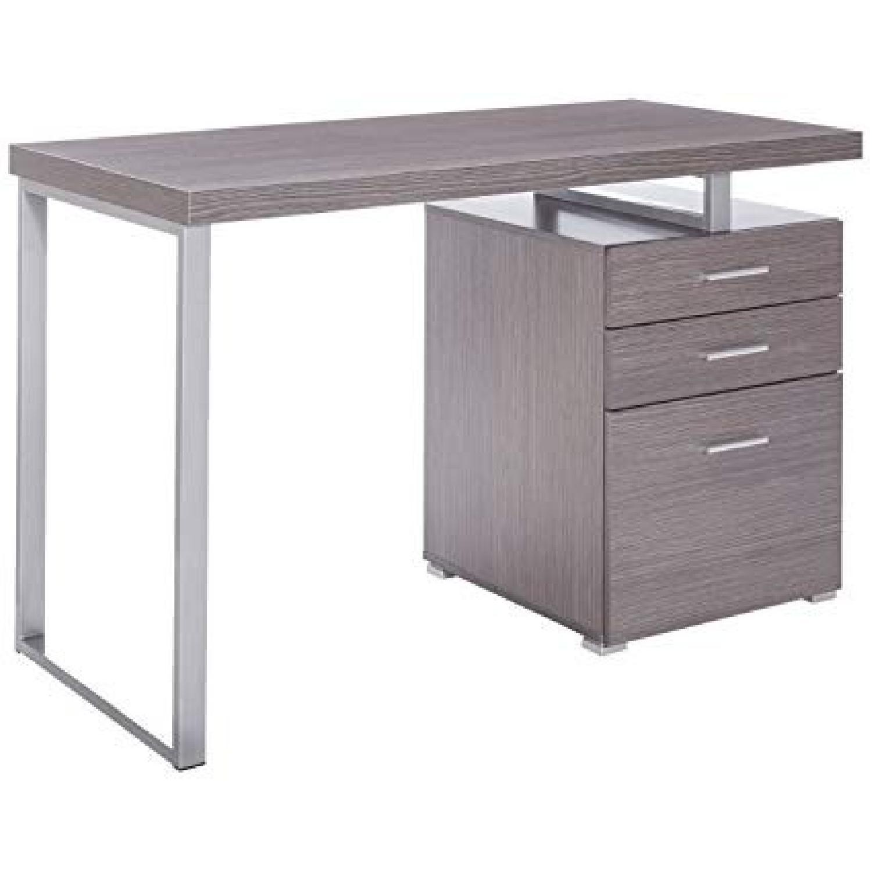 Weathered Grey Writing Desk w/ Reversible Storage Unit