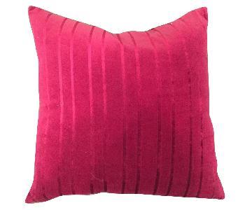 Deep Pink Velour Pillows