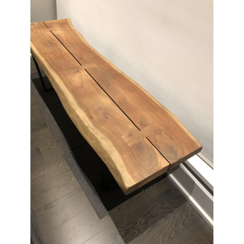 Room & Board Chilton Live Edge Bench in Walnut Wood-0