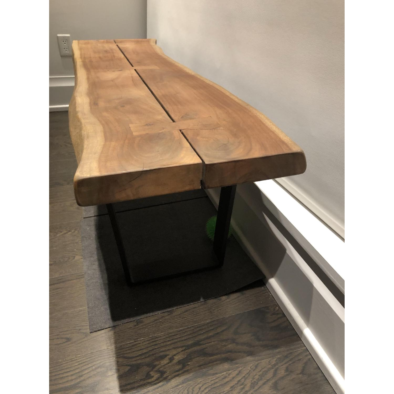 Room & Board Chilton Live Edge Bench in Walnut Wood-2