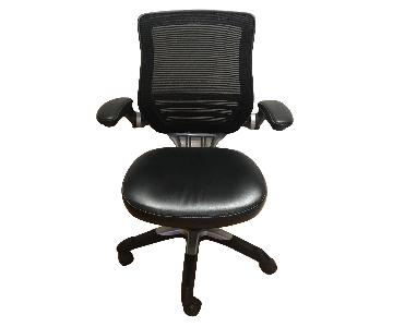 Staples Black Mesh & Leather Office Chair