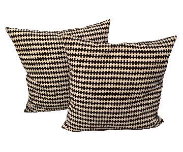 Black & White Striped Throw Pillows