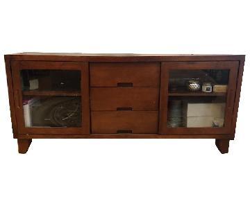 Pottery Barn Walnut Media Console