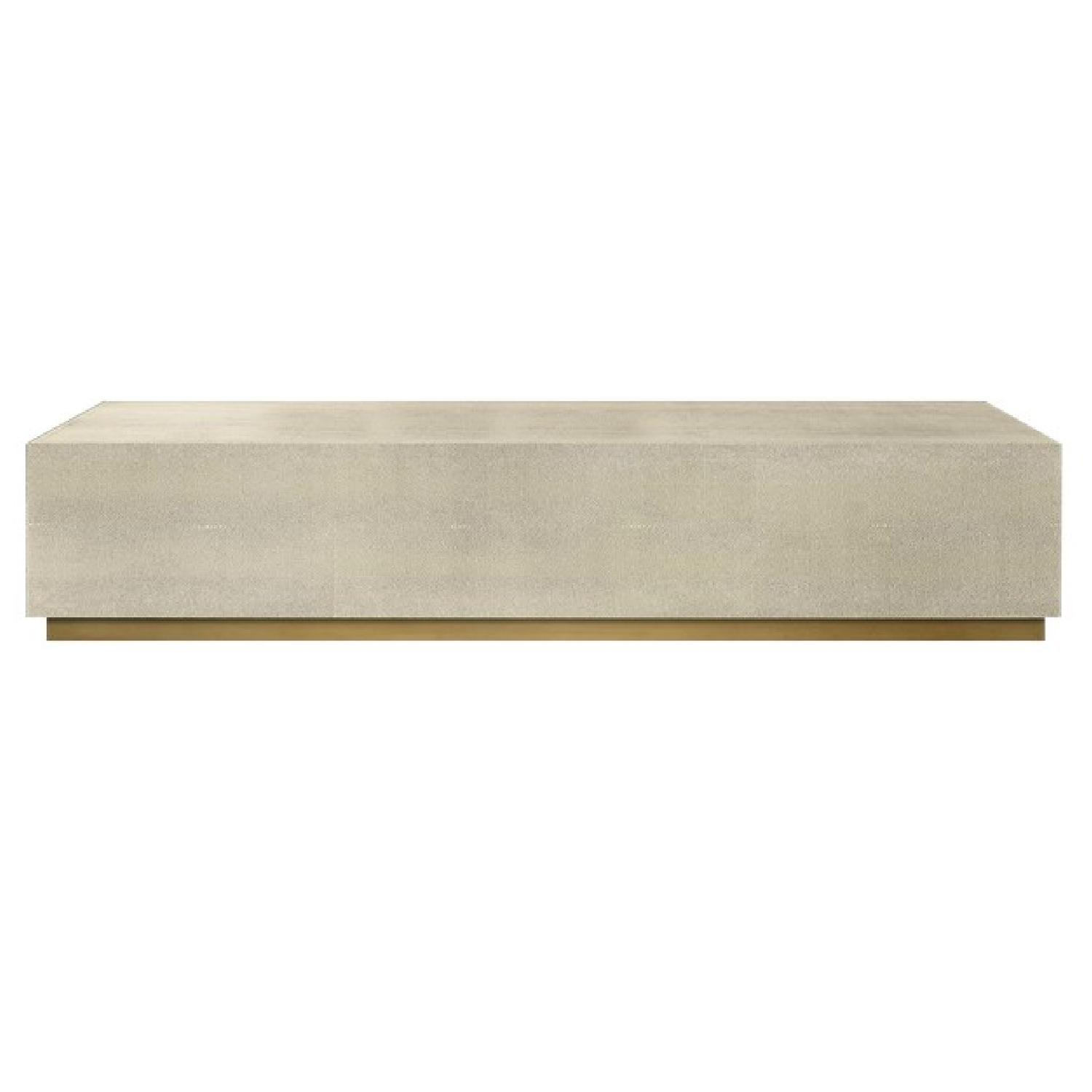 Restoration Hardware Graydon Shagreen Plinth Coffee Table - image-0