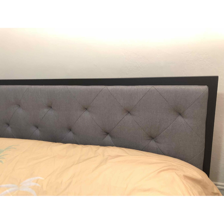 Sleep Master Metal Bed Frame w/ Upholstered Headboard-1