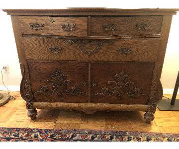 Antique Oak Storage Cabinet