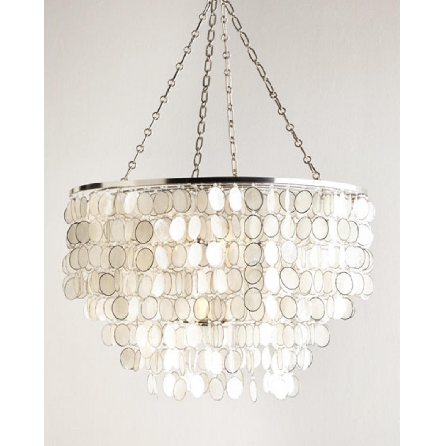 Horchow Aurora Silver 3 Light Shell Chandelier-0