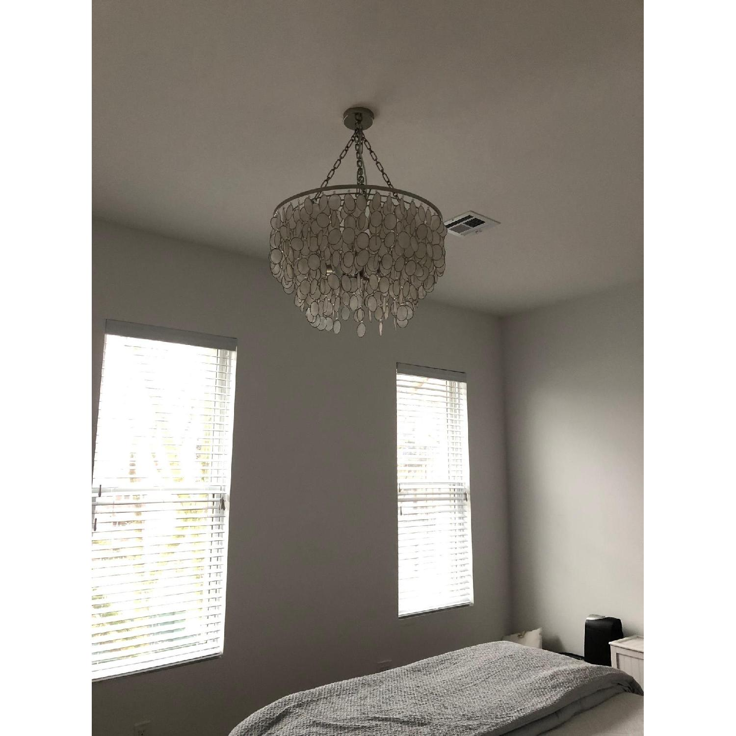 Horchow Aurora Silver 3 Light Shell Chandelier-2