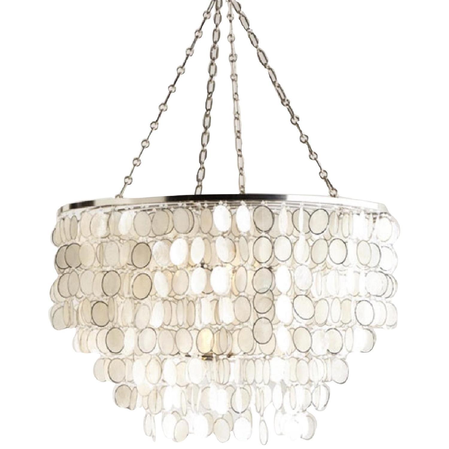 Horchow Aurora Silver 3 Light Shell Chandelier