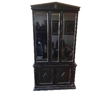 American Of Martinsville Vintage Solid Wood China Cabinet