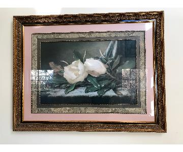 Fortunoff Roses Print in Gold Frame