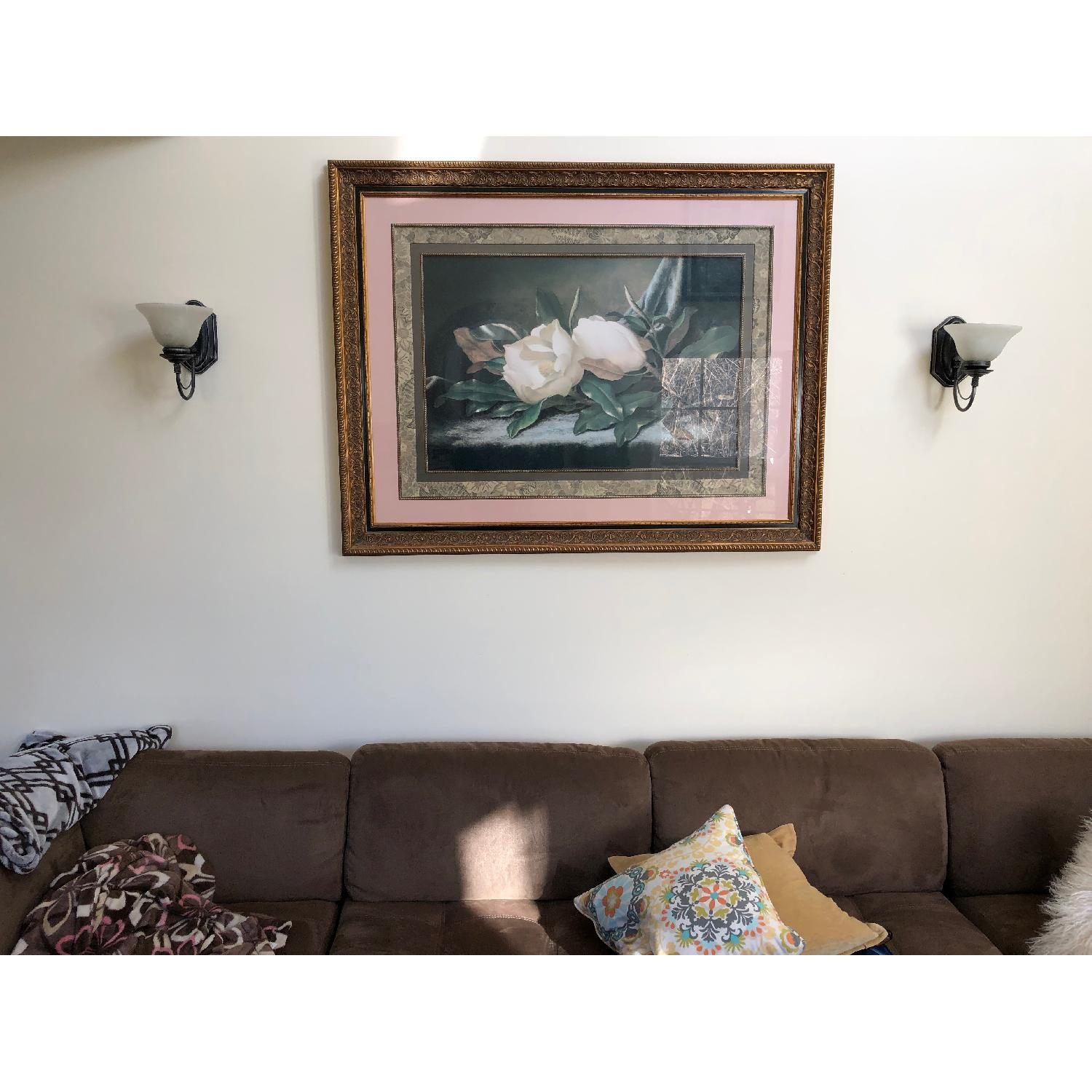 Fortunoff Roses Print in Gold Frame-1