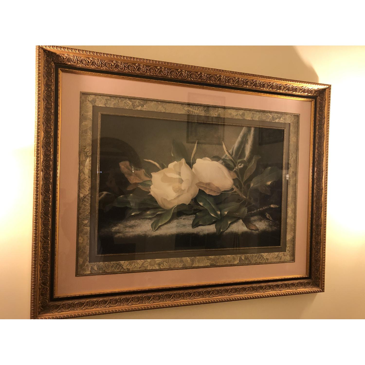 Fortunoff Roses Print in Gold Frame-5