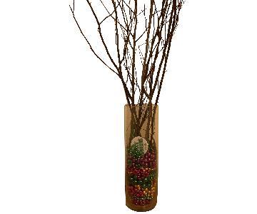 Mardi Gras Bead Vase