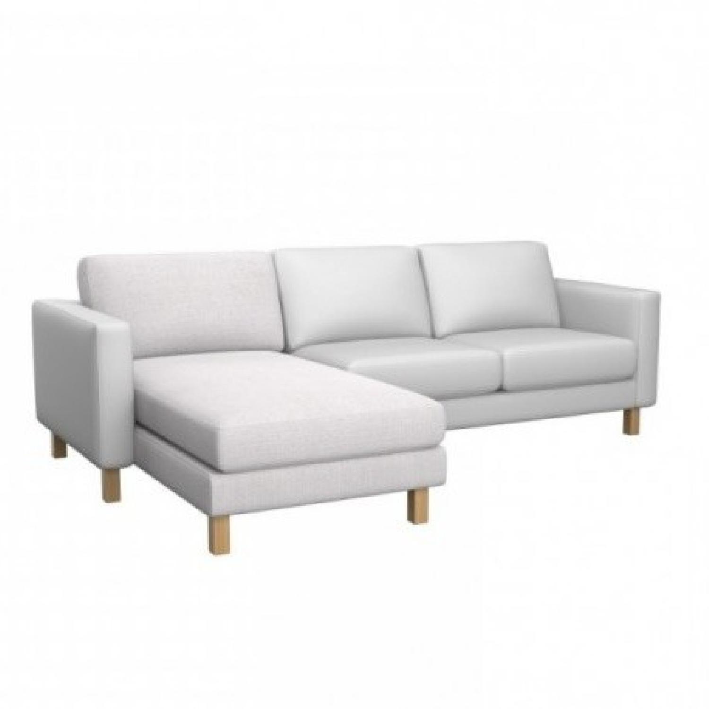Ikea Landskrona White Leather Sofa Aptdeco