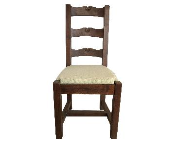 Wooden Dining Chairs w/ Fabric Seats