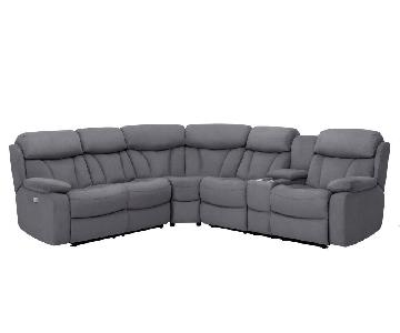 Raymour & Flanigan Connell Power-Reclining Sectional Sofa
