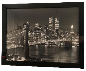 B&W Print of 80's World Trade Center