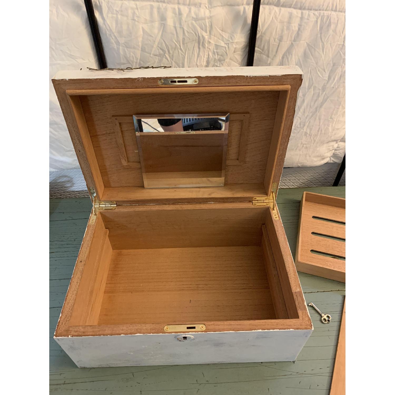 Shabby Chic Cigar/Jewelry Box-6