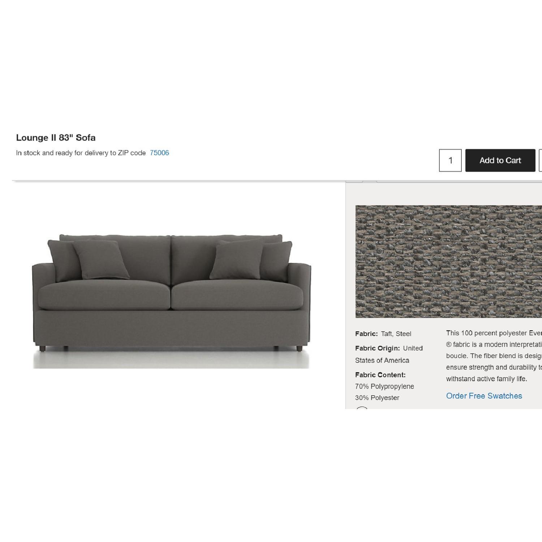 Crate & Barrel Lounge II Sofa-3