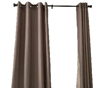 Bed Bath & Beyond Dark Brown Adjustable Curtain Rods