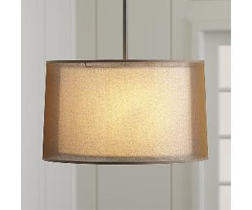Crate & Barrel Eclipse Antiqued Bronze Pendant Light
