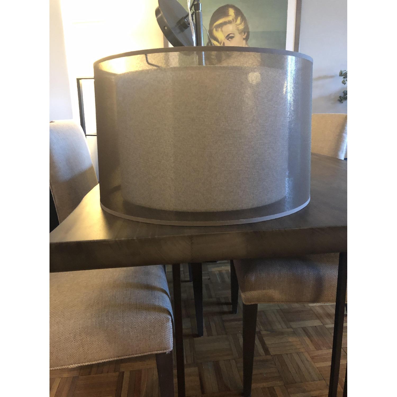 Crate & Barrel Eclipse Antiqued Bronze Pendant Light-3