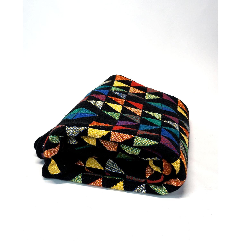 1970s Vintage Multicolor Wool Blanket-0