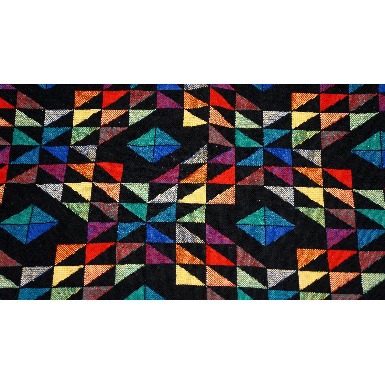 1970s Vintage Multicolor Wool Blanket-1