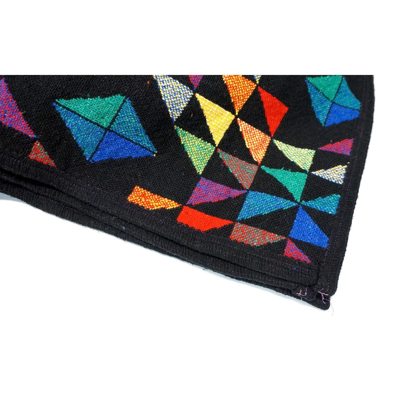 1970s Vintage Multicolor Wool Blanket-2