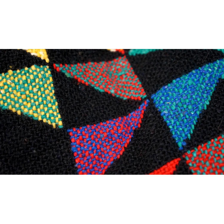 1970s Vintage Multicolor Wool Blanket-3