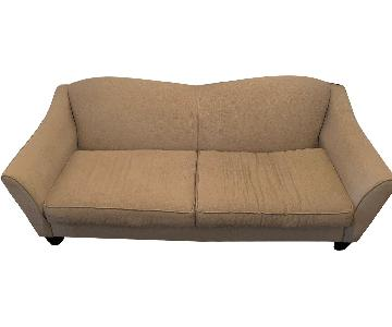 Beige 2-Cushion Sofa
