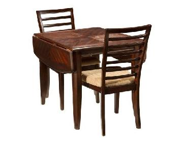 Raymour & Flanigan Oak Wood 3-Piece Dining Set