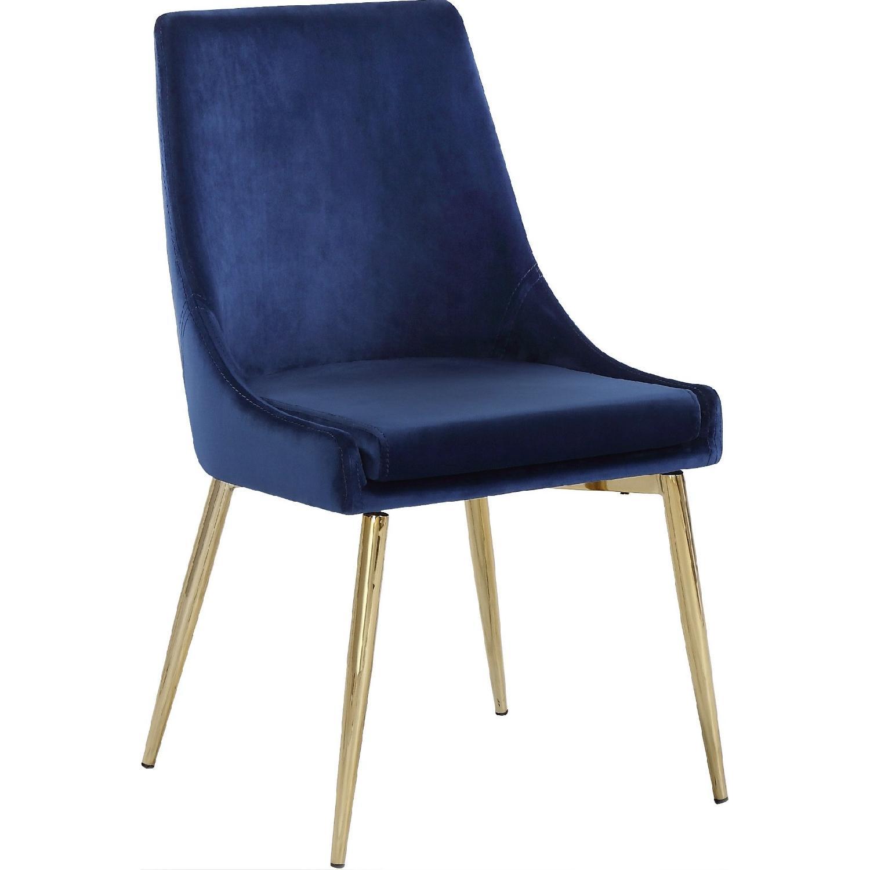Orren Ellis Navy & Gold Paluch Upholstered Dining Chair