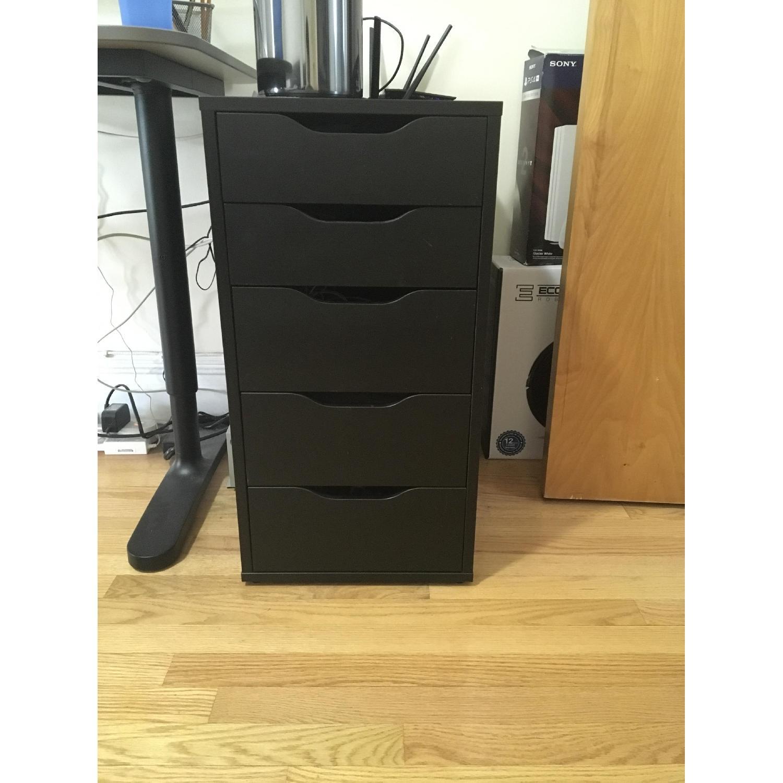 Ikea Alex Black Drawer Unit-0