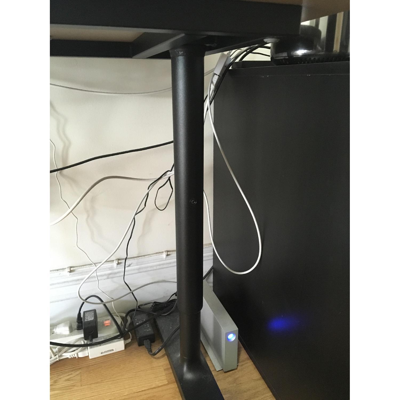 Ikea Gray Desk w/ Adjustable Height-2