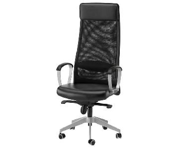 Ikea Black Office Chair w/ Adjustable Height