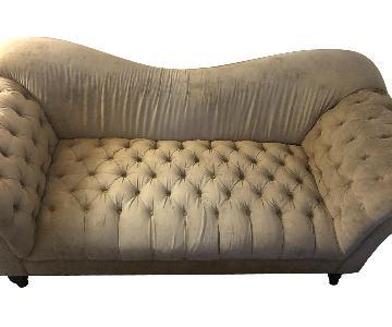 Ralph Lauren Beige Tufted Linen Sofa