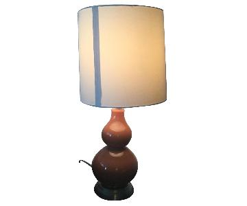 Orange Double Gourd Table Lamp