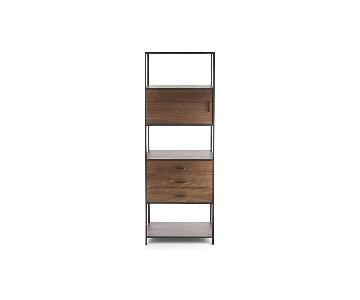 Crate & Barrel Knox Tall Storage Bookcase