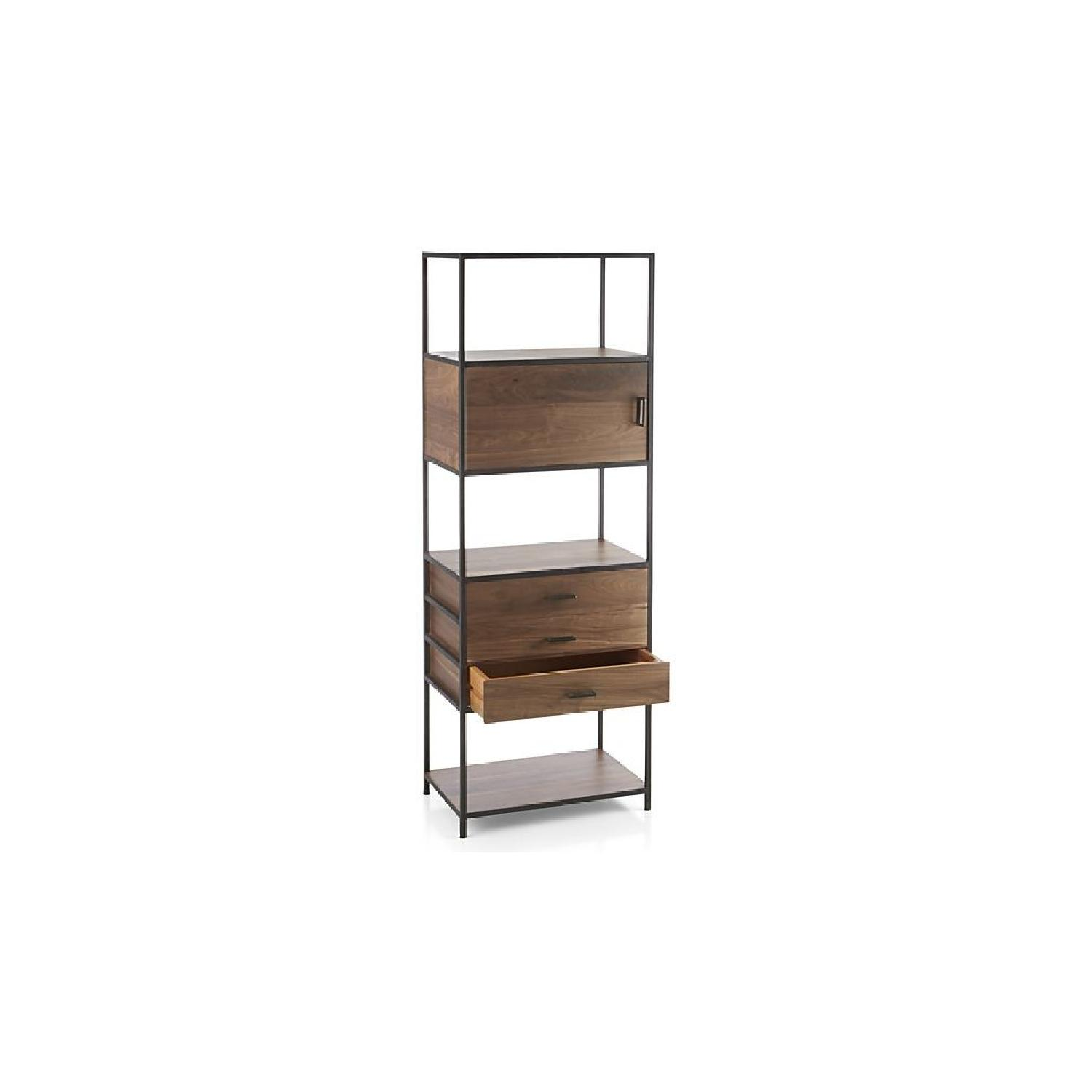 Crate & Barrel Knox Tall Storage Bookcase-0