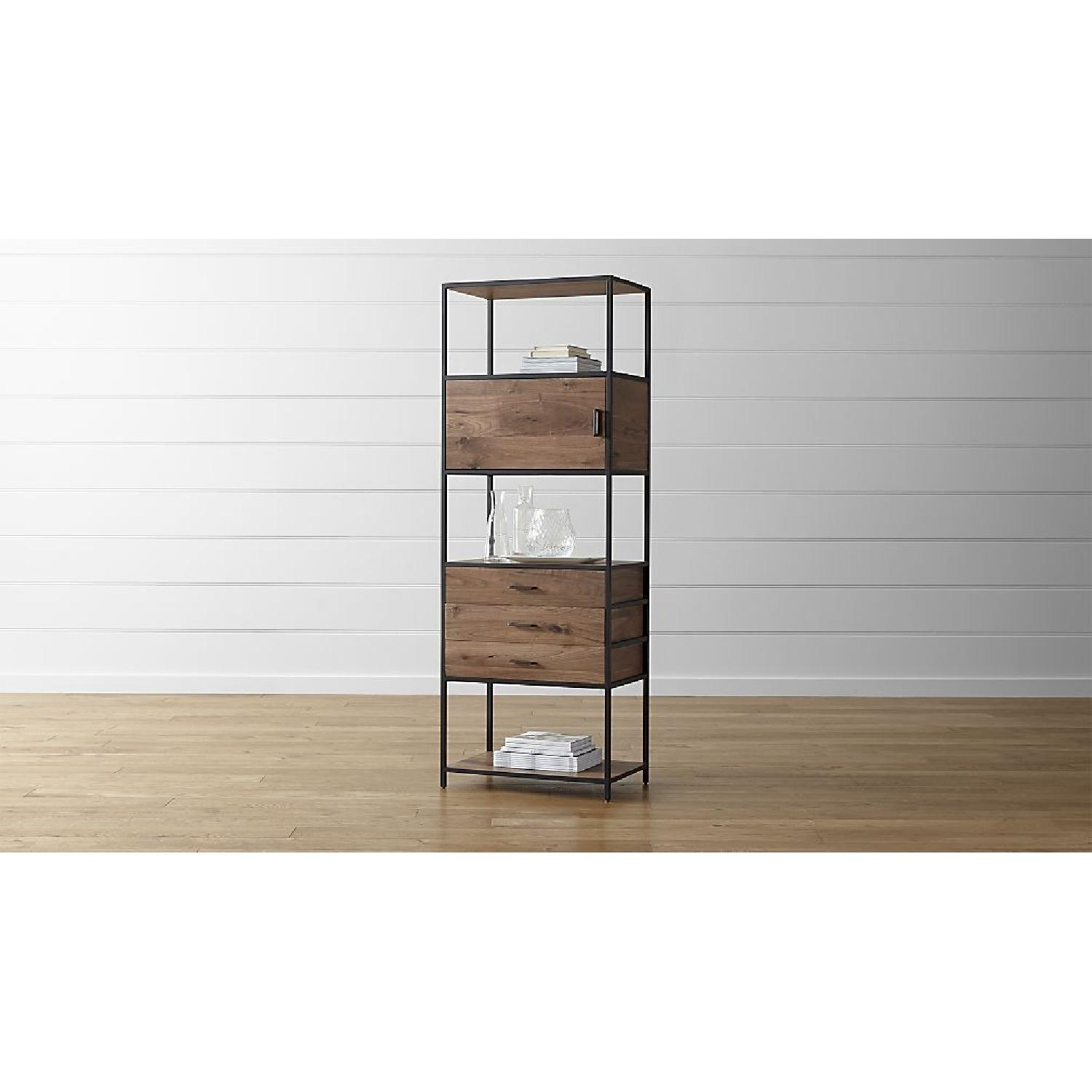 Crate & Barrel Knox Tall Storage Bookcase-1