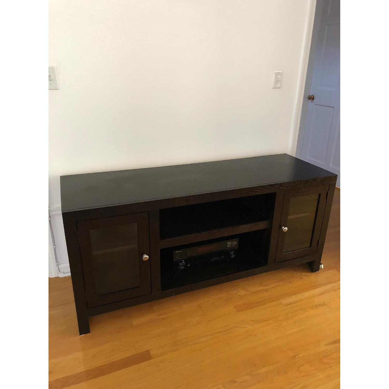 Raymour & Flanigan Delmar Chocolate Media Console-0