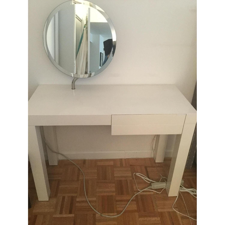 CB2 White Lacquer Desk/Vanity-1