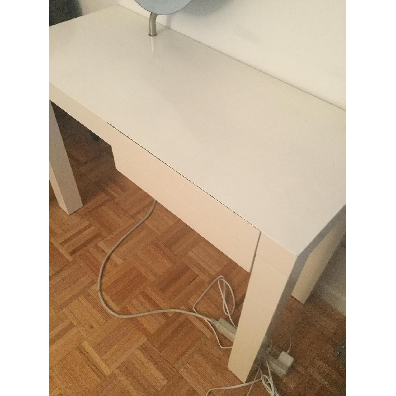 CB2 White Lacquer Desk/Vanity-2