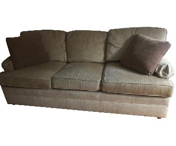 Thomasville Neutral Beige Upholstered Sofa