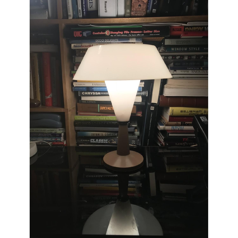 Vintage C.N. Burman 1964 Plastic Modular Saucer Desk Lamp-0