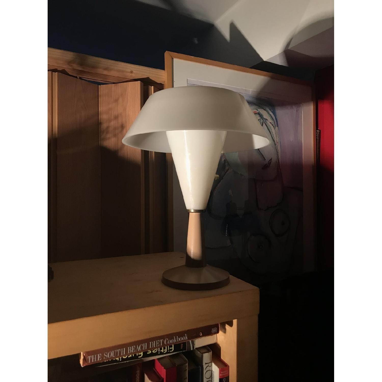 Vintage C.N. Burman 1964 Plastic Modular Saucer Desk Lamp-1