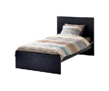 Ikea Malm Twin Bed Frame w/ Board