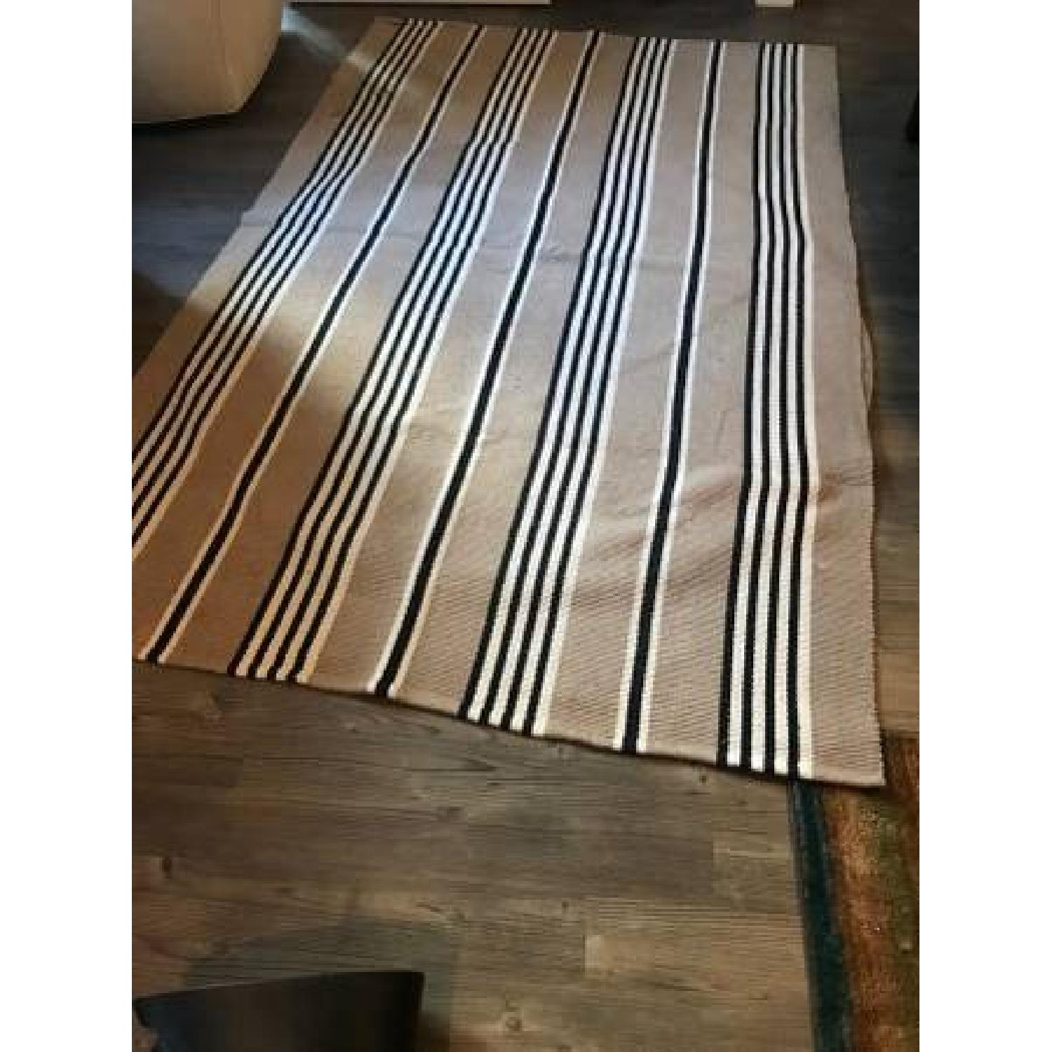 ABC Carpet and Home Beige Stripped Rug-0
